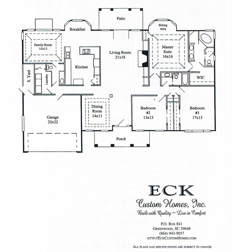 Eck Custom Homes, Inc. Greenwood, S.C.